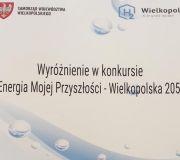 """Wyróżnienie w konkursie  """"Energia mojej przyszłości – Wielkopolska 2050"""""""